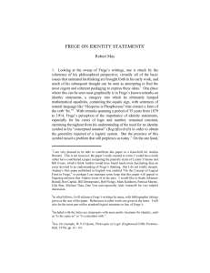 frege on identity statements