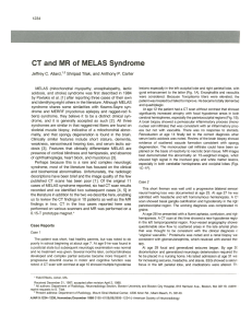 CT and MR of MELAS Syndrome