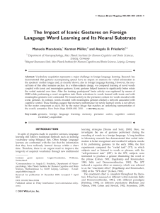 The impact of iconic gestures on foreign language word learning