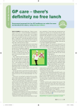 GP care – there`s definitely no free lunch