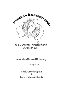 The abstract booklet can be downloaded here