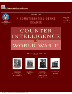 A Counterintelligence Reader, Volume 2