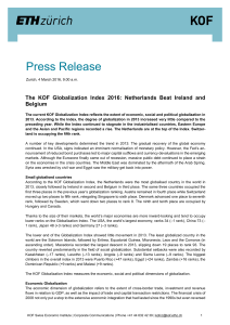 Press Release - KOF Index of Globalization