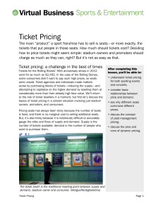 Ticket Pricing article