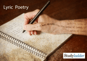 Lyric Poetry - Studyladder