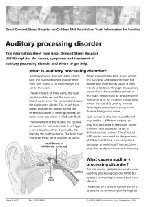 Auditory processing disorder - Great Ormond Street Hospital
