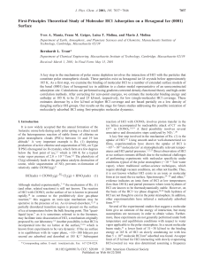 First-Principles Theoretical Study of Molecular HCl Adsorption on a