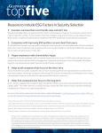 Reasons to Include ESG Factors in Security Selection