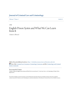 English Prison Systm and What We Can Learn from It