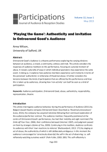 `Playing the Game`: Authenticity and invitation in