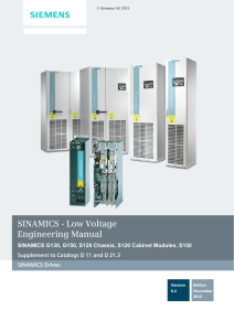 SINAMICS - Low Voltage Engineering Manual s