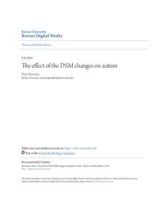 The effect of the DSM changes on autism