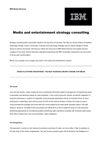 Media and entertainment strategy consulting