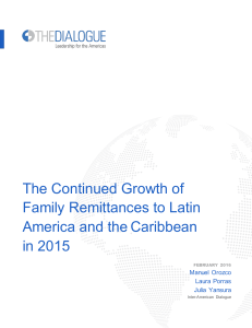 The Continued Growth of Family Remittances to Latin America and