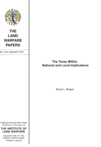 The Texas Militia: National and Local Implications