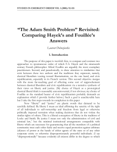 """The Adam Smith Problem"" Revisited"