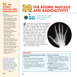 THE ATOMIC NUCLEUS AND RADIOACTIVITY