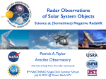 Radar Observations of Solar System Objects