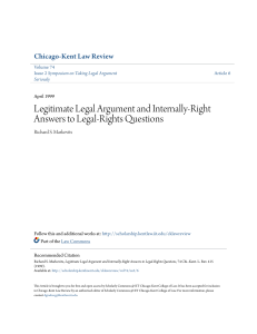 Legitimate Legal Argument and Internally