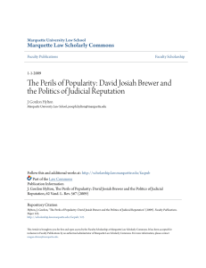 The Perils of Popularity: David Josiah Brewer and the Politics of