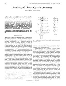 Analysis of Linear Coaxial Antennas