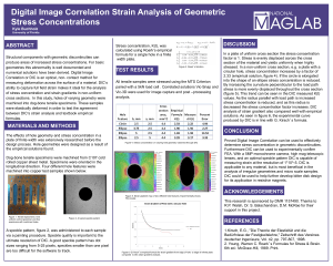 Digital Image Correlation Strain Analysis of Geometric Stress