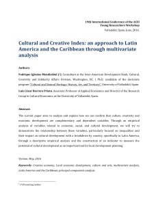Cultural and Creative Index: an approach to Latin America and the