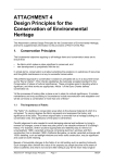 ATTACHMENT 4 Design Principles for the Conservation of
