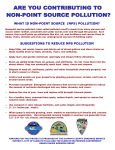Are you Contributing to Non-Point Source (NPS) Pollution?