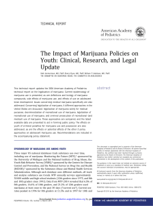 The Impact of Marijuana Policies on Youth: Clinical, Research, and