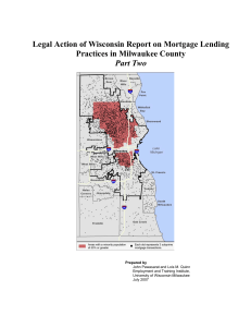 Legal Action of Wisconsin Report on Mortgage Lending