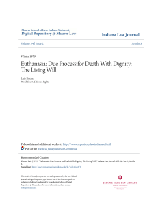 Euthanasia: Due Process for Death With Dignity