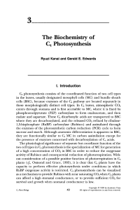 The Biochemistry of C 4 Photosynthesis