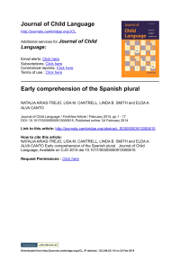Early comprehension of the Spanish plural.