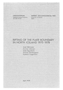 rifting of the plate boundary in north iceland 1975-1978