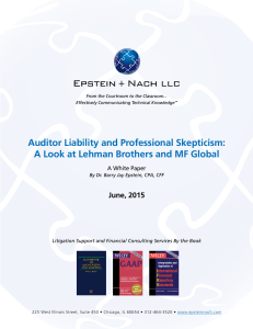 Auditor Liability and Professional Skepticism: A Look at Lehman