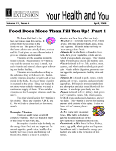 Food Does More Than Fill You Up! Part 1