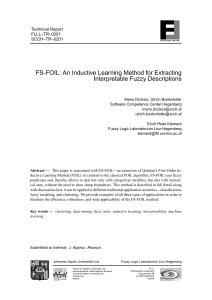 FS-FOIL: An Inductive Learning Method for Extracting Interpretable