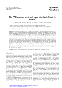 The PAH emission spectra of Large Magellanic Cloud H II regions