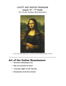7th Gr T3 - Italian Renaissance Docent Guide