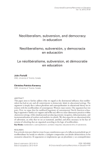 Neoliberalism, Subversion, and Democracy in