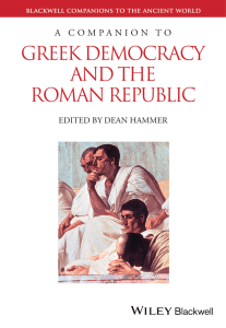 A Companion to Greek Democracy and the