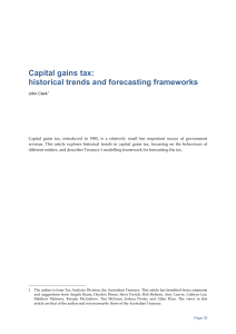 Capital gains tax - Treasury Research Institute
