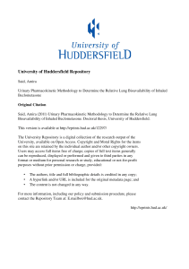 - the University of Huddersfield Repository
