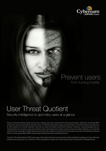 User Threat Quotient Brochure