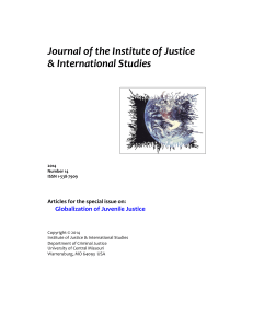 The Globalization of Juvenile Justice