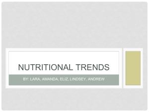 nutritional trends