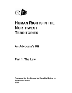 human rights in the northwest territories