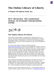 The Continental System - Online Library of Liberty