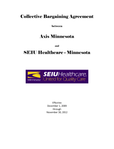 Collective Bargaining Agreement Axis Minnesota SEIU Healthcare